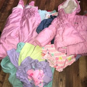 Girls bundle of clothes size 12 months